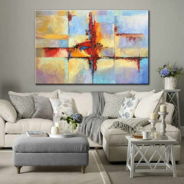Large Abstract Canvas Art Active